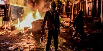 Militante kurdo en Estambul. Foto:AFP