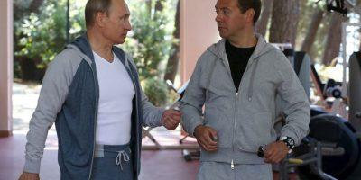 El presidente ruso mostró entusiasmo antes de comenzar sus ejercicios. Foto:AFP