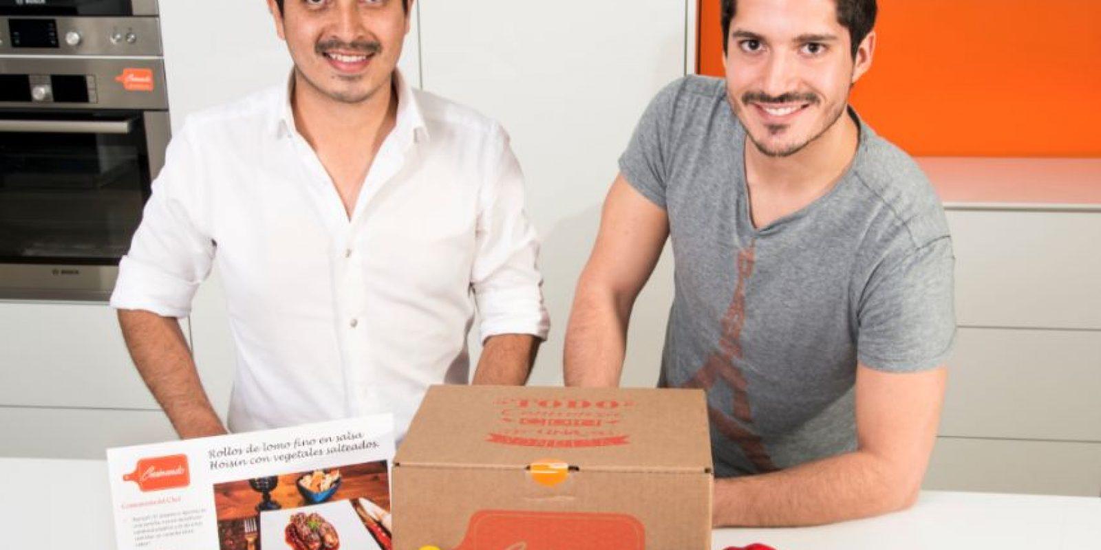 A la izquierda Javier Rios y a la derecha Daniel Medina, creadores de Cusinando. Foto:cortesía Cusinando