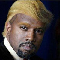 Así luciría West con el copete de Donald Trump Foto:Instagram.com/explore/tags/kanyewest