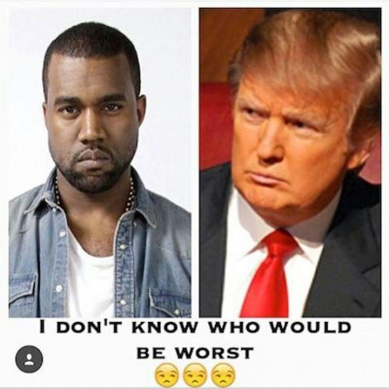 Lo comparan con Donald Trump, el empresario estadounidense polémico por su racismo hacia los latinos Foto:Instagram.com/explore/tags/kanyewest