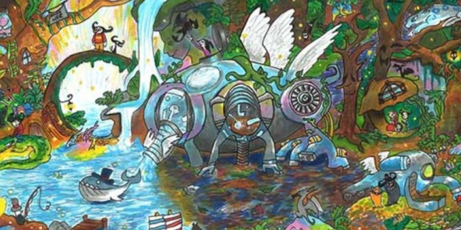 """""""Back to Mother Nature"""" fue el vencedor del concurso """"Doodle 4 Google"""". Foto:Google"""