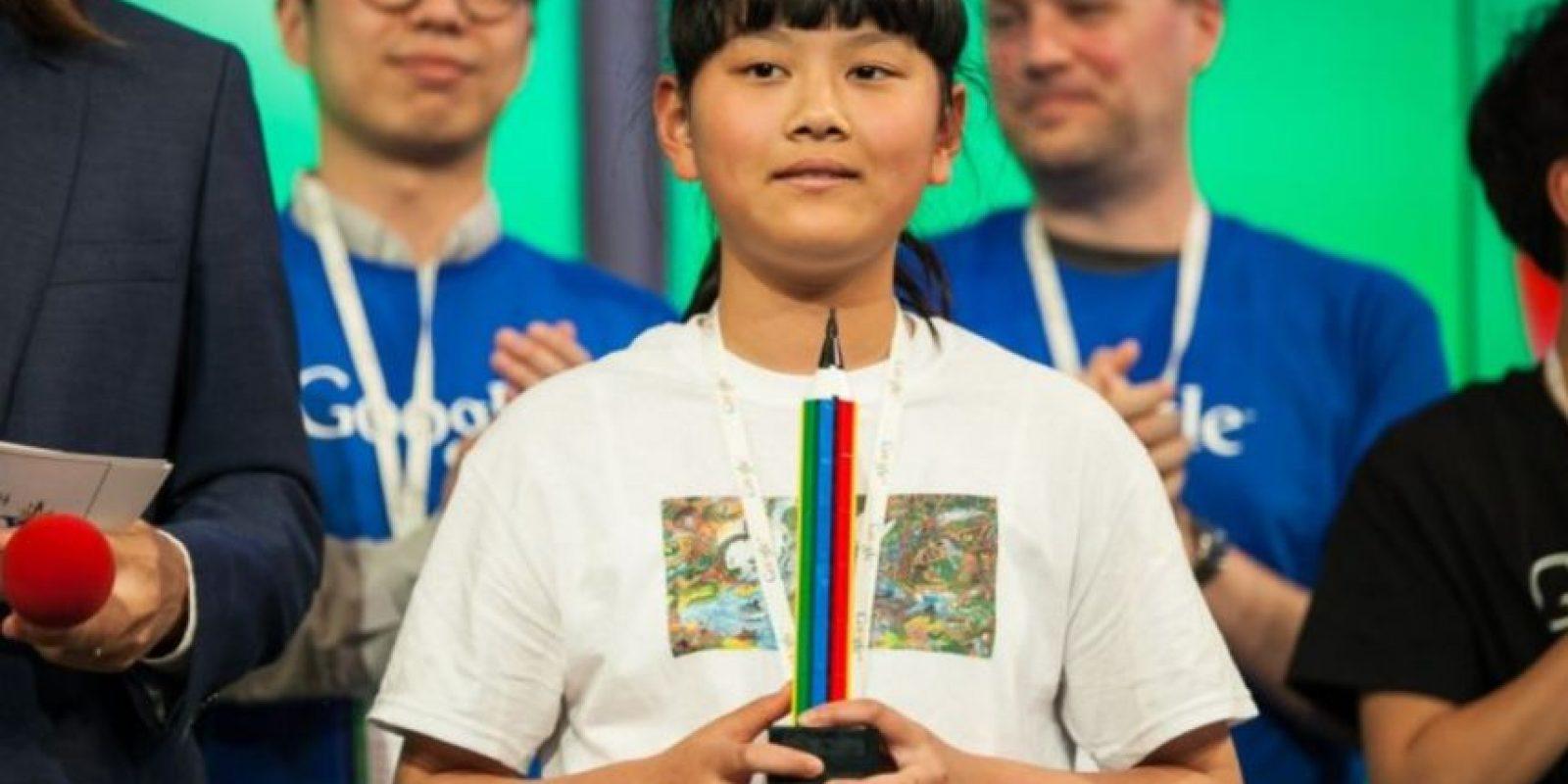 """Audrey Zhang, la ganadora con su dibujo """"Back to Mother Nature"""" de entre más de 100 mil niños participantes menores de 12 años. Foto:Google"""