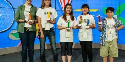 Audrey Zhang junto a los otros finalistas. Foto:Google