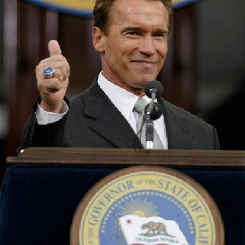 El actor fue gobernador de California desde 2004 hasta 2011. Foto:Getty Images