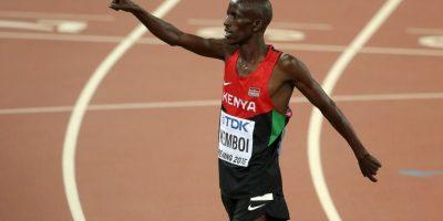 Ezequiel Kemboi. Dominó en los tres mil metros con obstáculos con una marca de ocho minutos, 11 segundos y 28 centésimas de segundo Foto:Getty Images