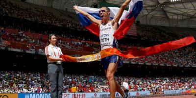 El atleta eslovaco ganó los 50 kilómetros de marcha con un tiempo de tres horas, 40 minutos y 32 segundos Foto:Getty Images