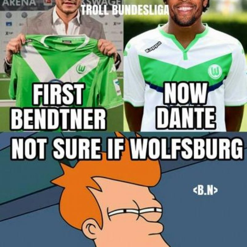 Bendtner llegó al Wolfsburgo. Foto:Vía twitter.com/troll__football