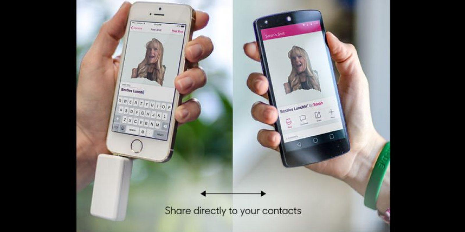 Después de tener la imagen lista, podrán compartirla en redes sociales y contactos Foto:Matter And Form Inc.
