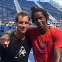 Richard Gasquet publicó esta imagen de su entrenamiento en el US Open, al lado de su compatriota Gael Monfils. Foto:Vía twitter.com/richardgasquet1