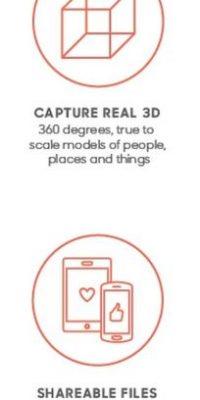 La captura es 100% real y en 3D. Además podrán compartir el archivo sin problemas de compatibilidad con cualquier dispositivo Foto:Matter And Form Inc.