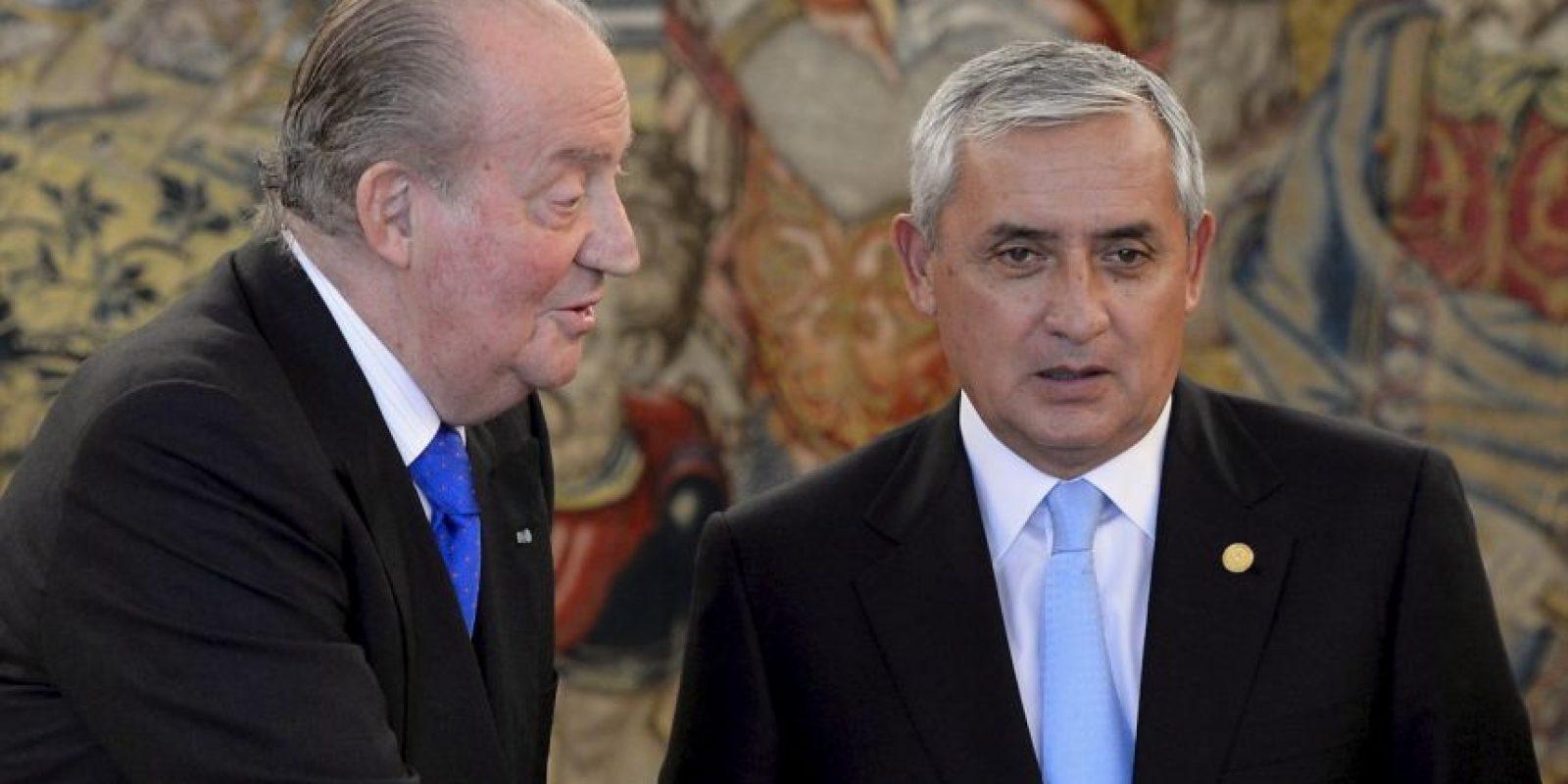 En febrero de 2013, se reunión con el Rey Juan Carlos I de España Foto:Getty Images