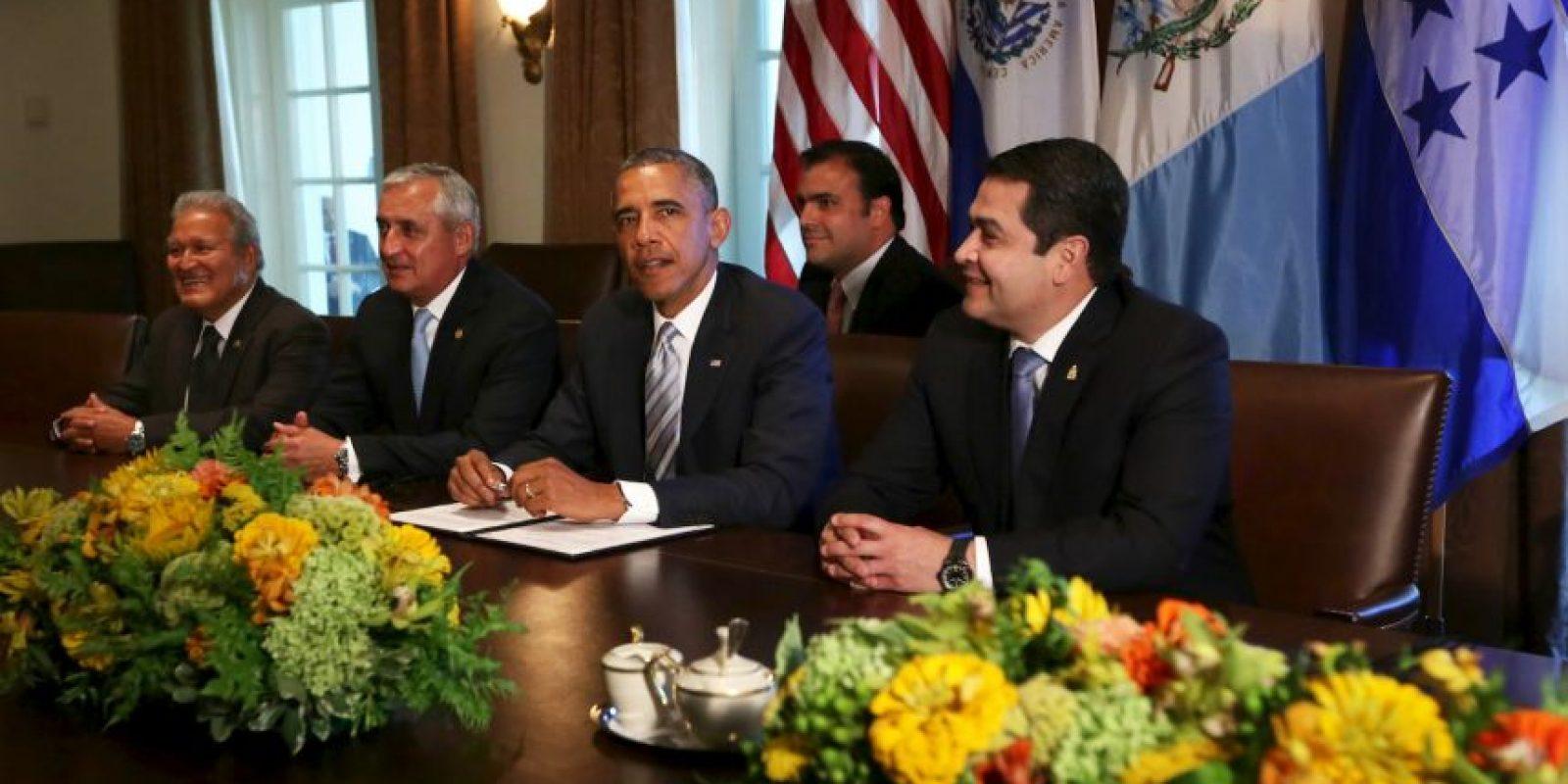 Estuvieron en el encuentro los mandatarios de Guatemala, El Salvador y Honduras Foto:Getty Images