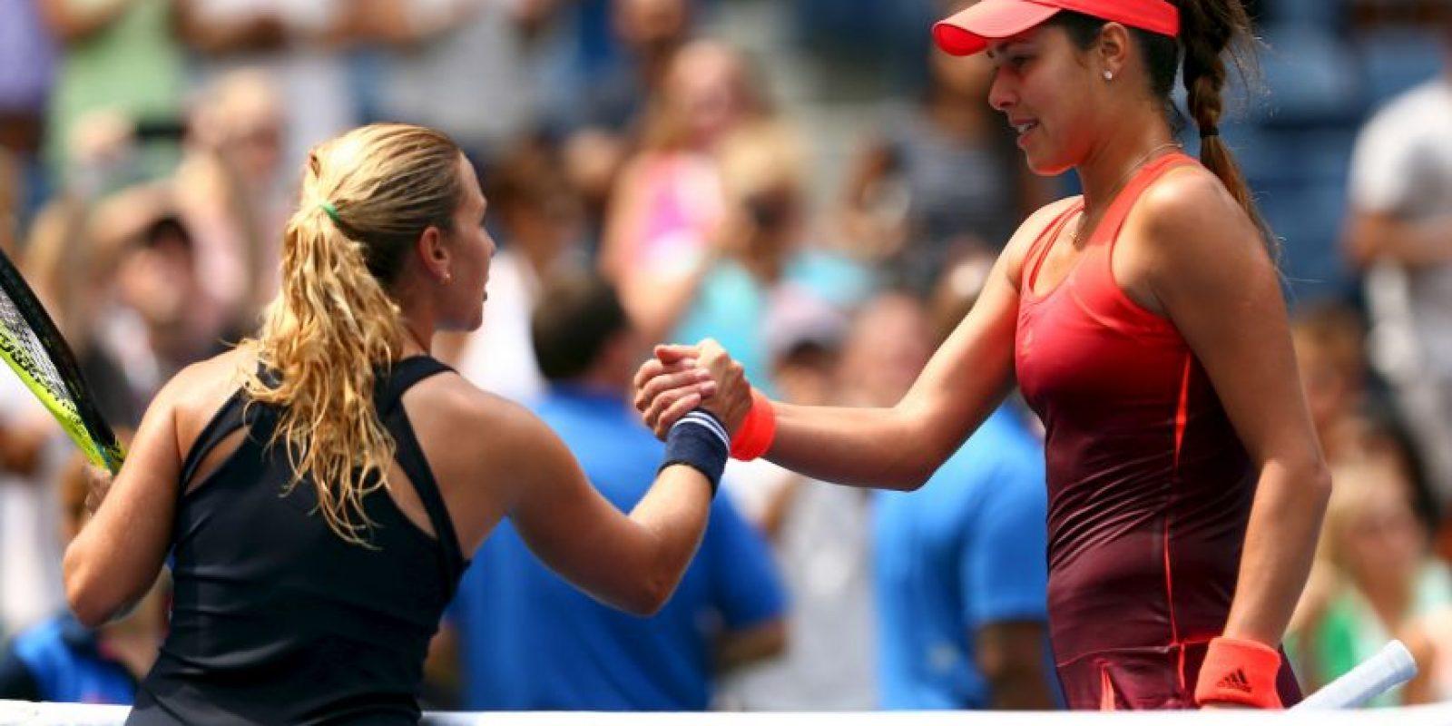 La serbia fue eliminada en primera ronda por la eslovaca Dominika Cibulkova (50). Foto:Getty Images