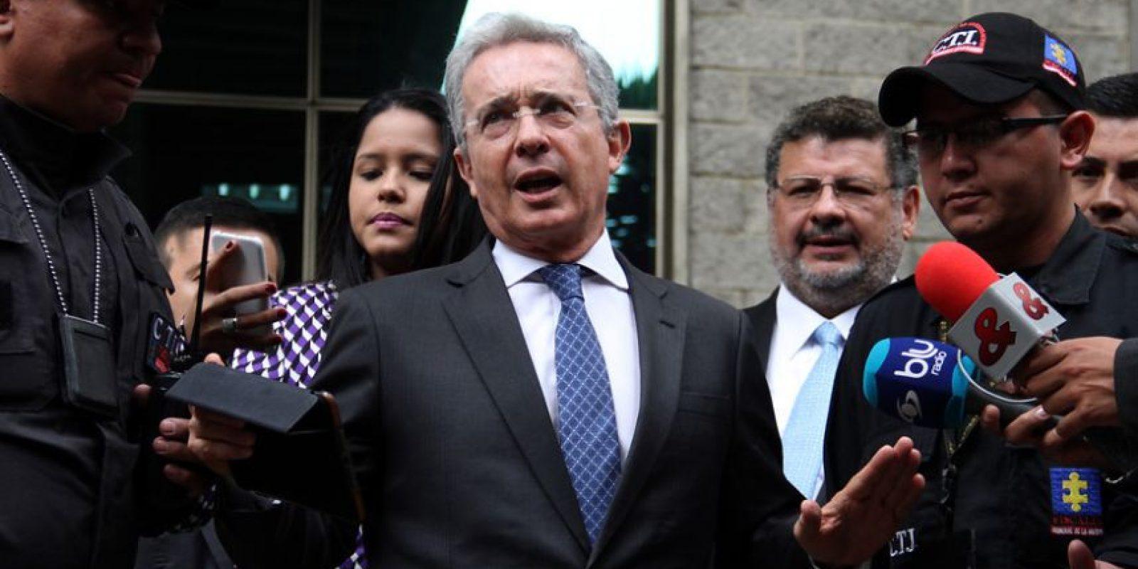 Expresidente Álvaro Uribe. Foto:Tomadas de Colprensa.