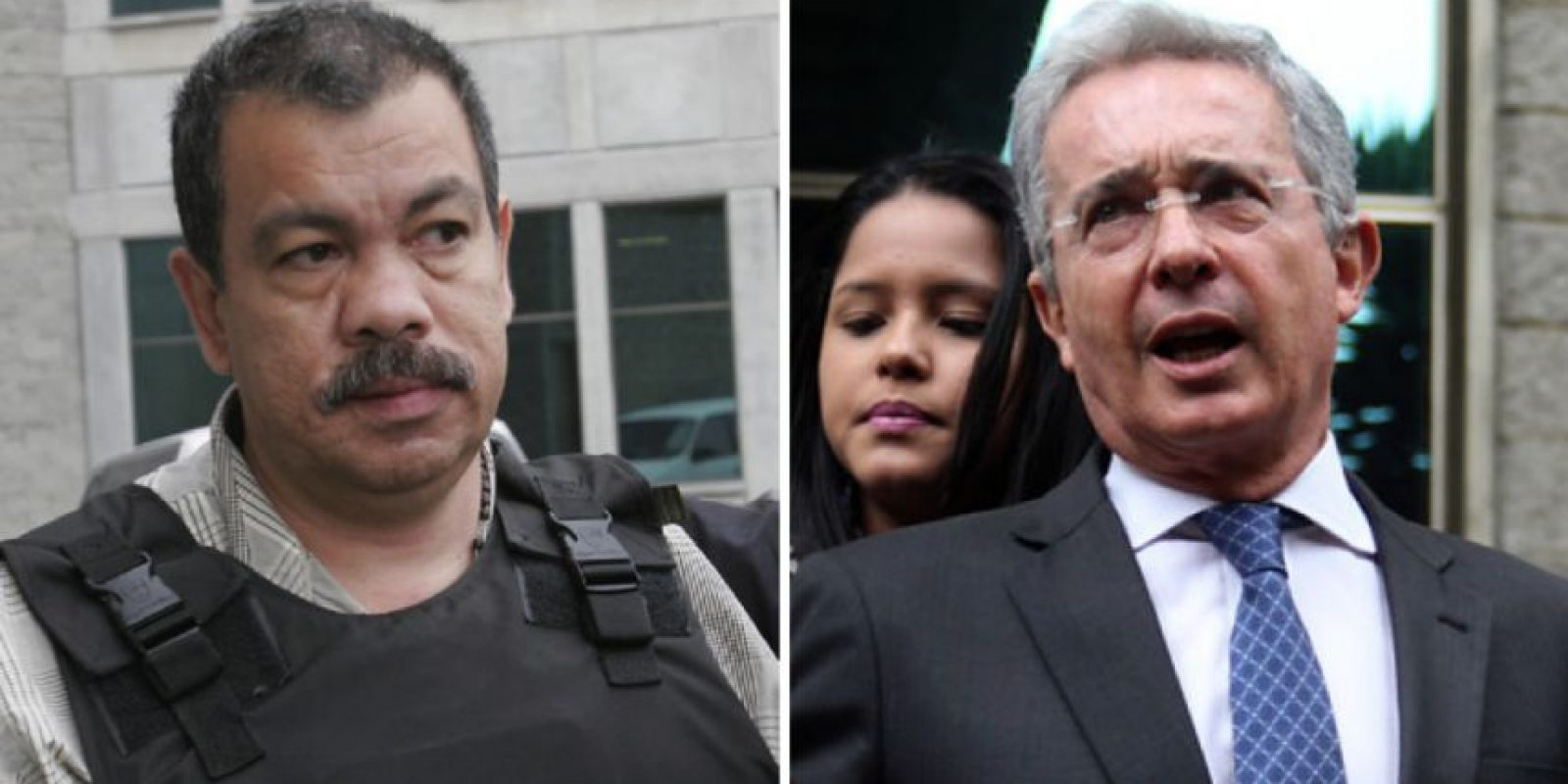 Diego Fernando Murillo, alias Don Berna / Expresidente Álvaro Uribe. Foto:Tomadas de Colprensa.
