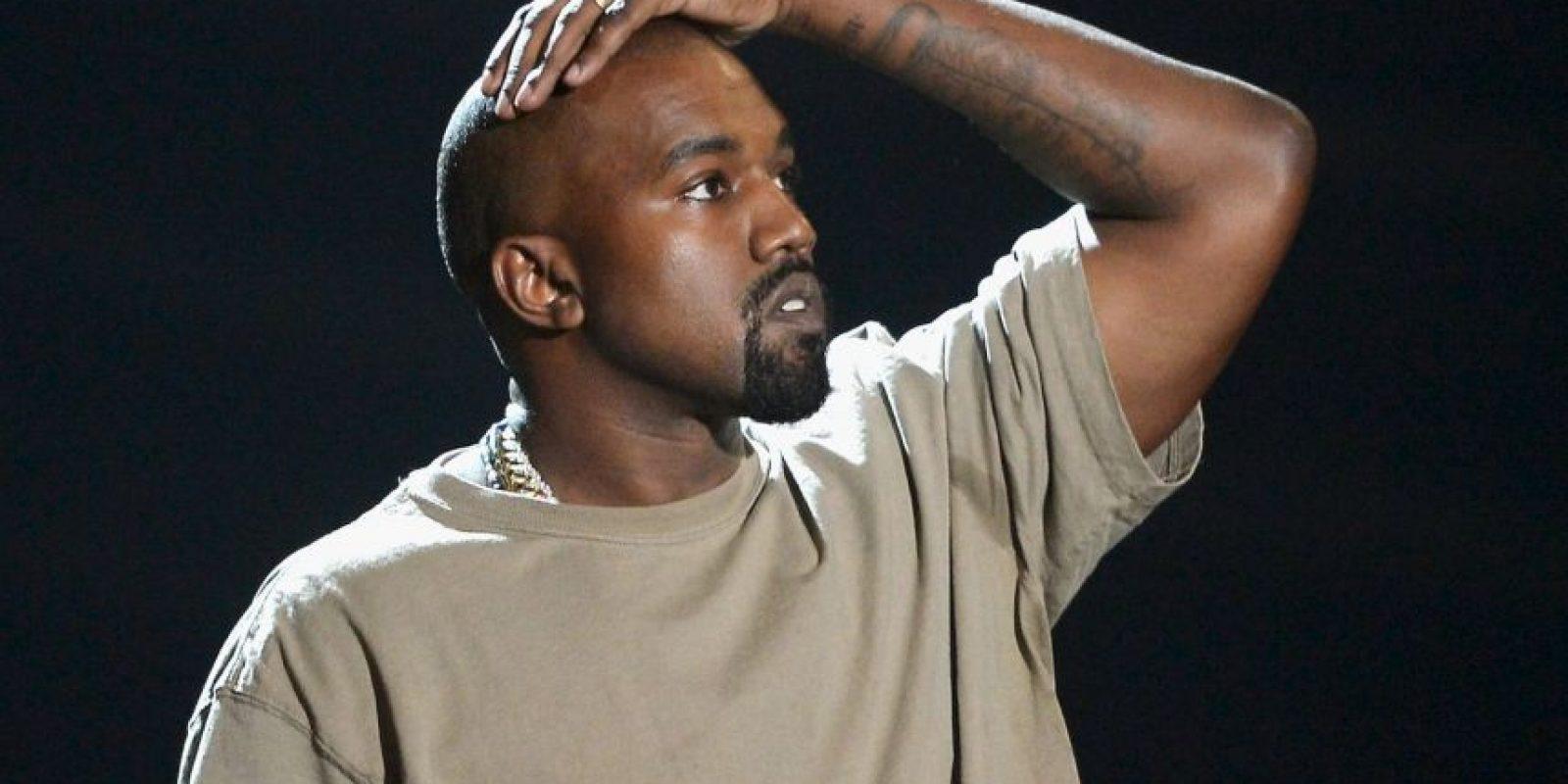 Kanye West provocó las burlas del público con su deseo de ser presidente. Foto:Getty Images