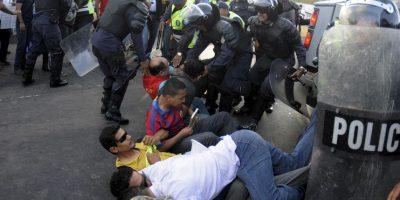 6. Los manifestantes han pedido el apoyo del sector empresarial. Foto:AP