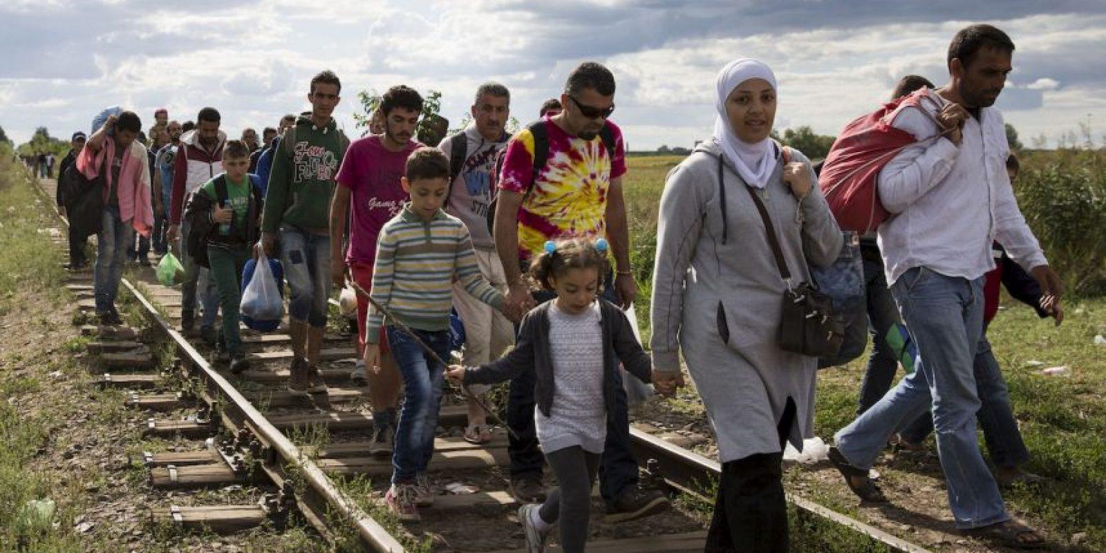 La salida de los sirios del país ha creado una crisis humanitaria. Foto:Getty Images