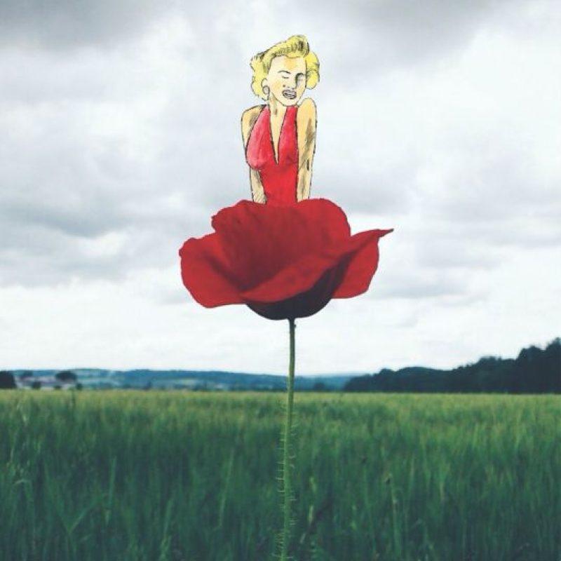 Flower Marilyn Foto:Vía instagram @mr.kriss