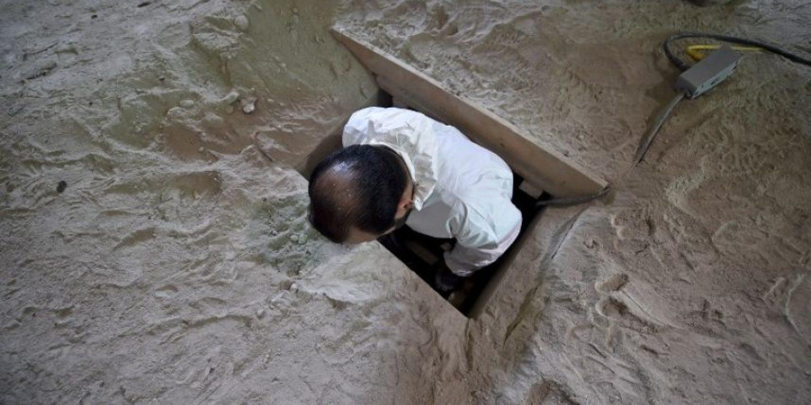 El final del túnel estaba a kilómetro y medio (una milla) de distancia del penal Foto:AFP