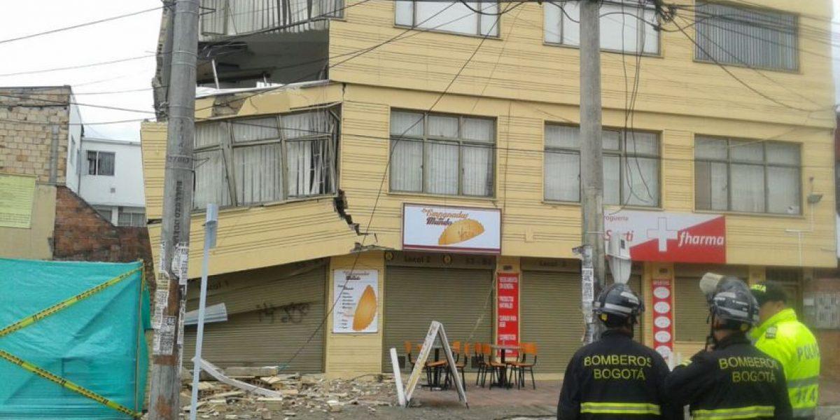 Se hundió una casa en el barrio Galerías