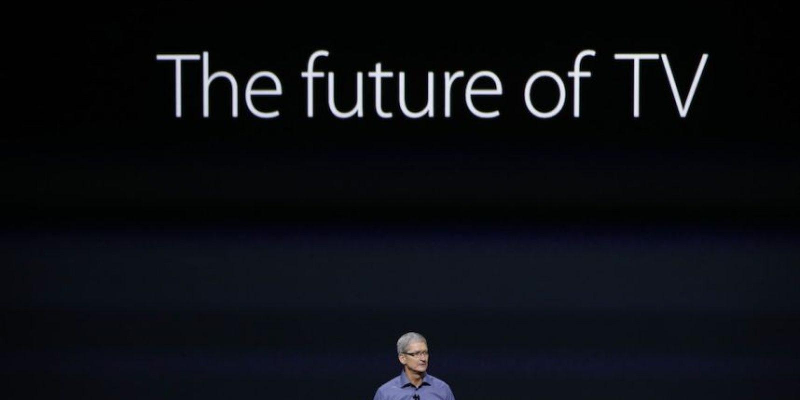 Tim Cook dice que las aplicaciones son el futuro de la televisión. Foto:Getty Images