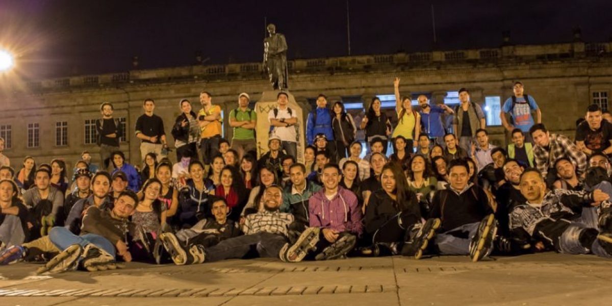 22 fotos para que se inspire a patinar de noche en Bogotá