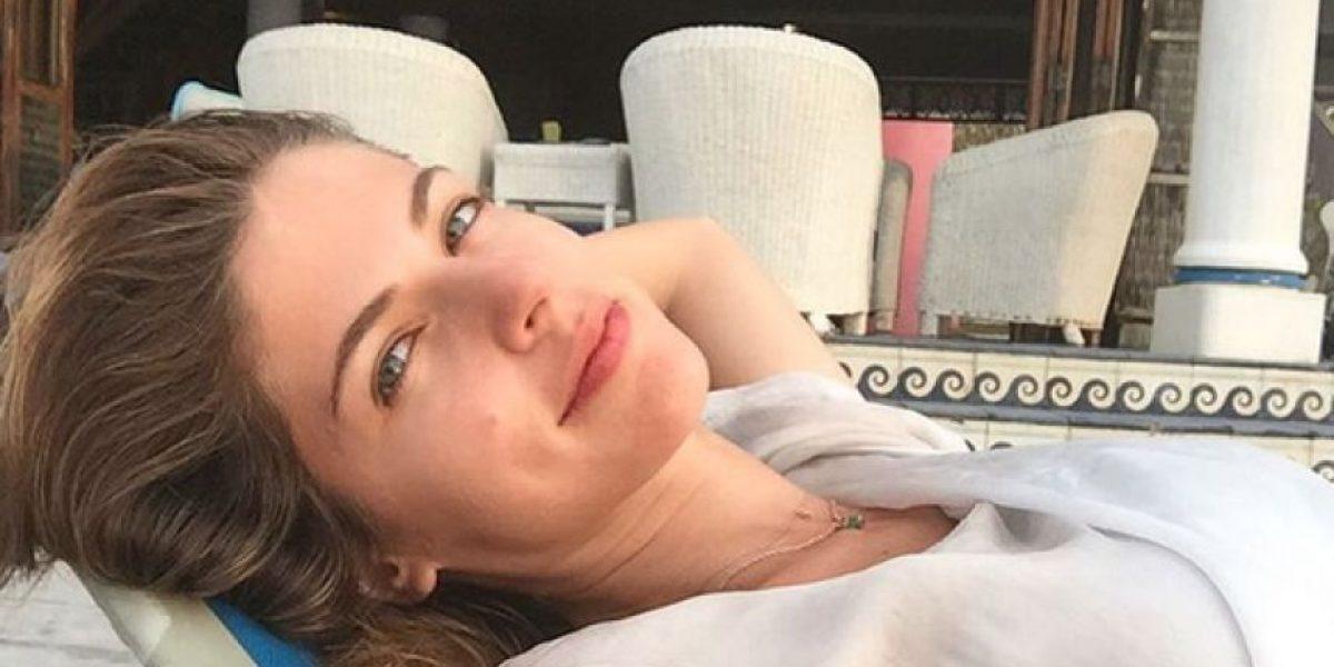 Stephanie Cayo fue pillada en Cartagena