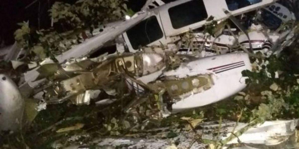 Así quedó la avioneta accidentada de la producción de Tom Cruise