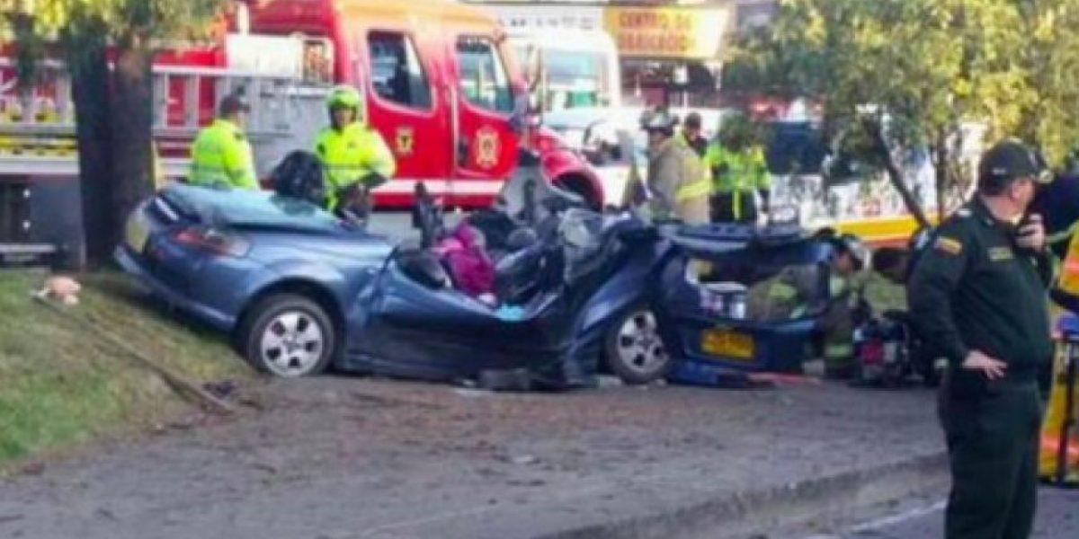 Dos muertos dejó accidente de tránsito en Bogotá