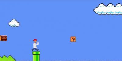 """La odisea de los refugiados sirios al estilo """"Super Mario"""". Foto:vía YouTube.com"""