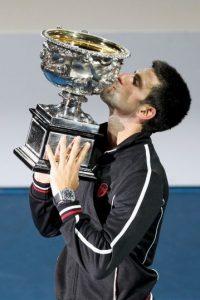 5. Abierto de Australia (2012). Volvió a vencer a Rafael Nadal por marcadores 5–7, 6–4, 6–2, 6–7(5–7), 7–5. Foto:Getty Images