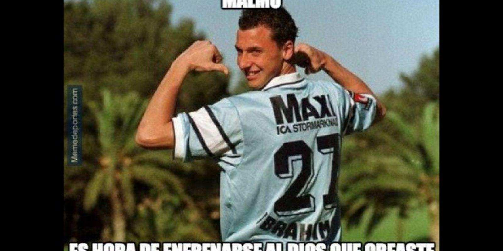 """Otro """"reencuentro"""" esperado fue el de Zlatan, que se enfrentó a su club de origen, el Malmo FF. Foto:memedeportes.com"""