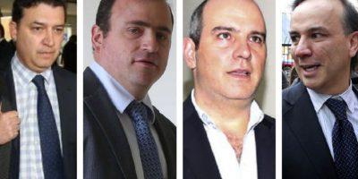 Juan Carlos Ortiz, José Juan Rodríguez, Tomás Jaramillo y el abogado Álvaro Dávila.