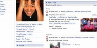 2006. La plataforma ya no recuerda a los usuarios que ese es su perfil. Foto:Facebook.com
