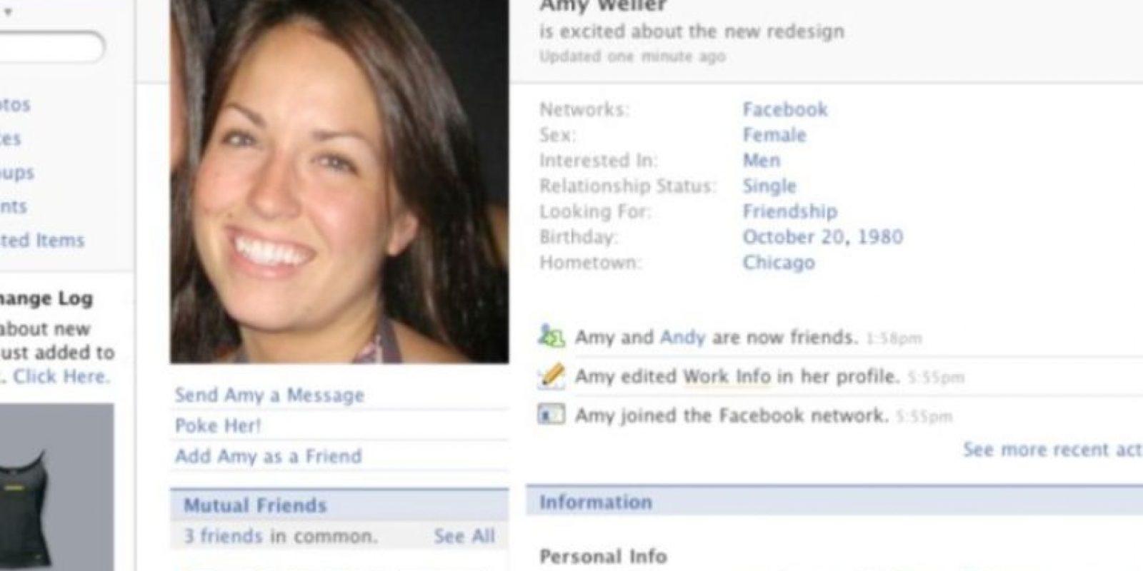 2007. Se le trataba al usuario en tercera persona. Foto:Facebook.com