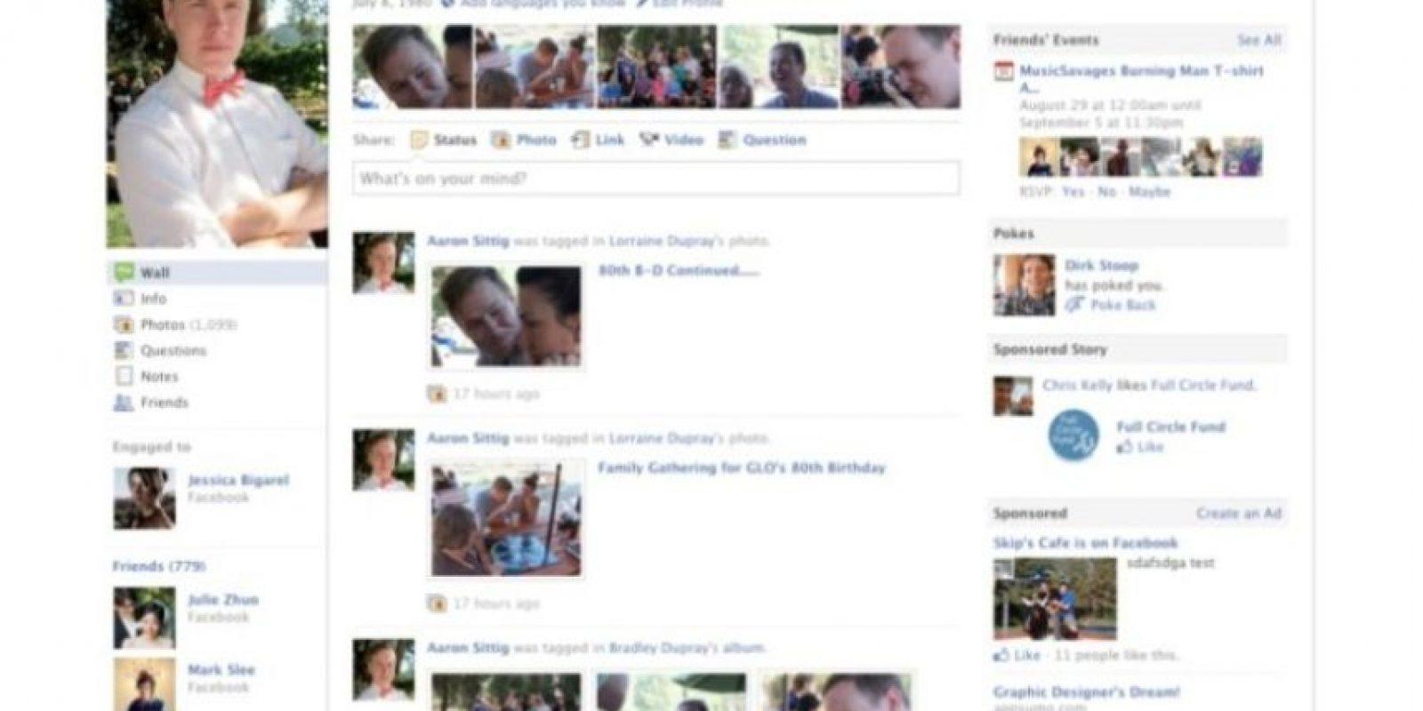 2010. Comienza la estilización del perfil y a lucir de mejor manera. Foto:Facebook.com