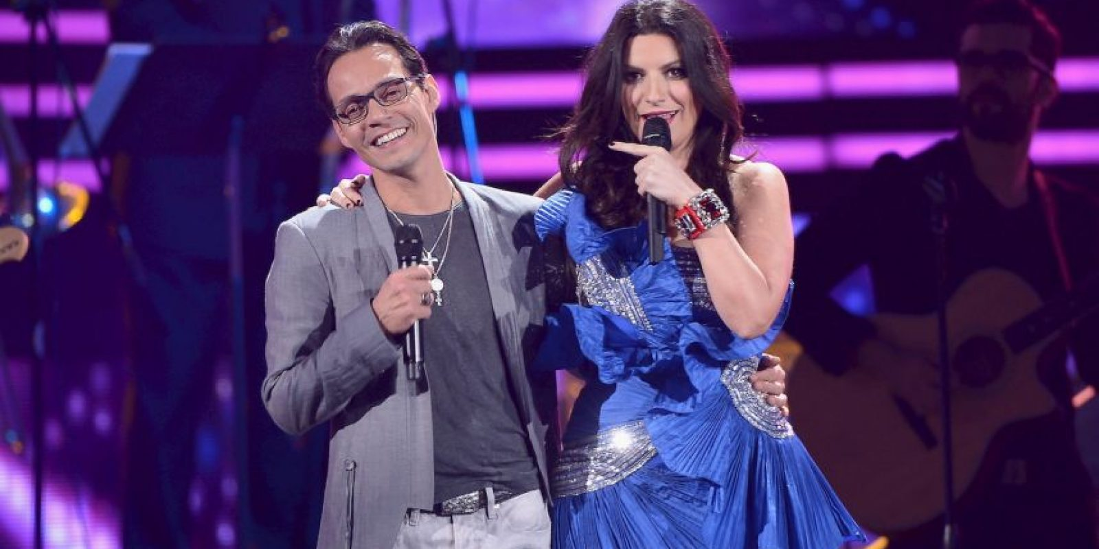 Marc Anthony y Laura Pausini Foto: Getty Images