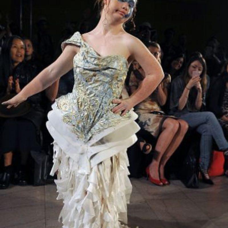 Madeline Stuart fue la segunda modelo con Síndrome de Down en desfilar en la Semana de la moda de Nueva York. Foto:vía Getty Images