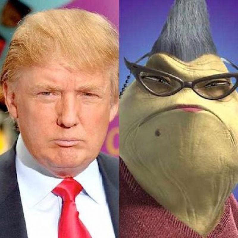 E incluso se le comparó con personajes de películas como Monsters Inc Foto:Twitter.com