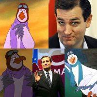 También el senador Ted Cruz fue comparado Foto:Twitter.com