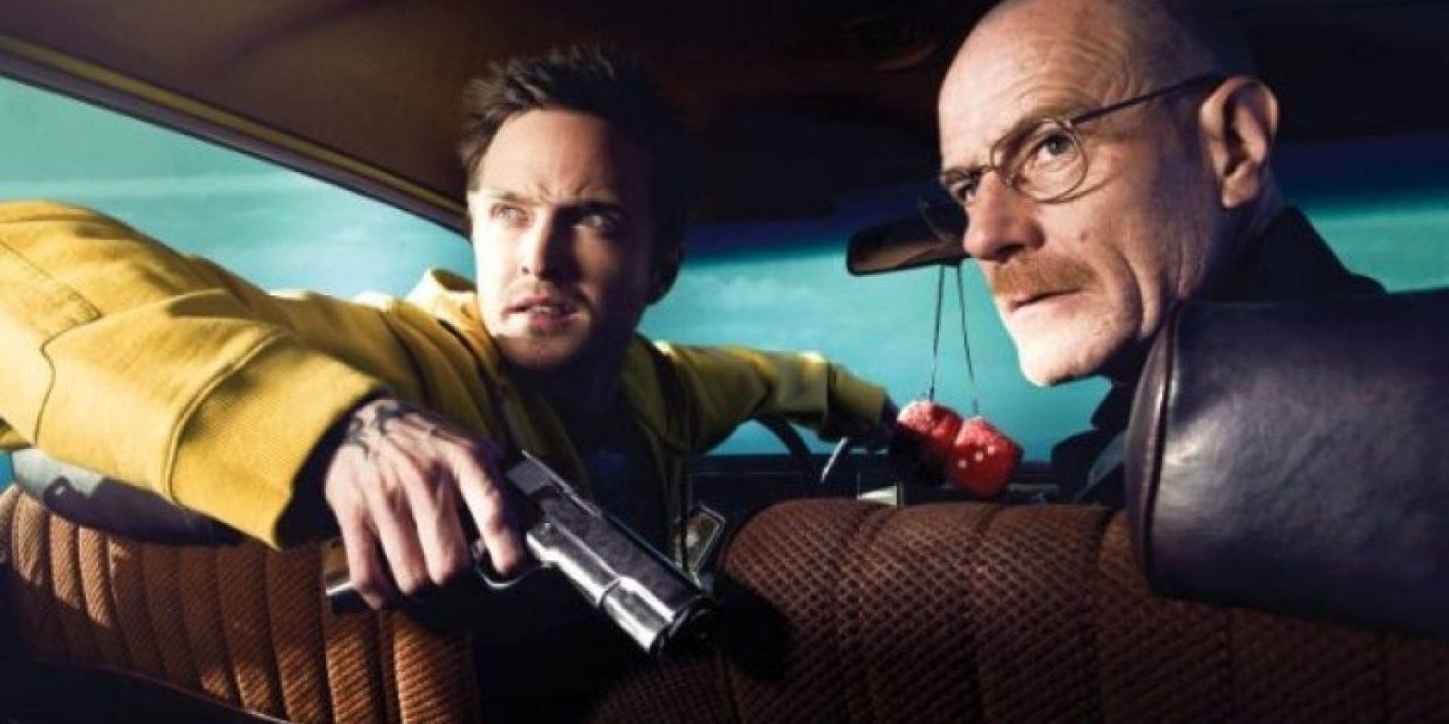 """Aaron Paul y Bryan Cranston son los encargados de darle vida a """"Jesse Pinkman"""" y """"Walter White"""" en la serie original. Foto:IMDB"""