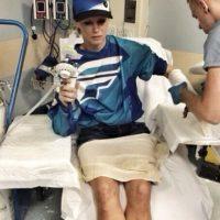 Esta no es la primera vez que llega hasta el hospital por su empleo. Foto:vía instagram.com/olivia_stunts