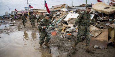 Ayer visitó la región de Coquimbo y zonas aledañas, las cuales resultaron severamente afectadas Foto:AFP