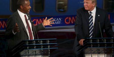 Donald Trump (der) y Ben Carson (izq) Foto:AFP