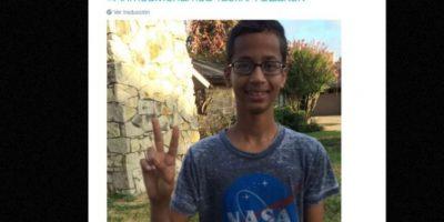 El joven fue arrestado utilizando una camiseta de la NASA Foto:vía Twitter