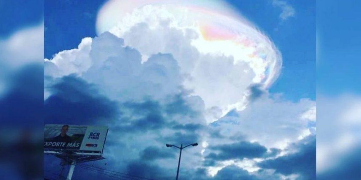 La verdad tras esta extraña nube vista en Costa Rica