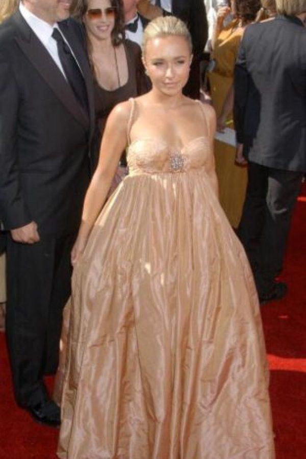 Hayden Panettiere en 2013 con un vestido que le cortaba las piernas. Foto:vía Getty Images