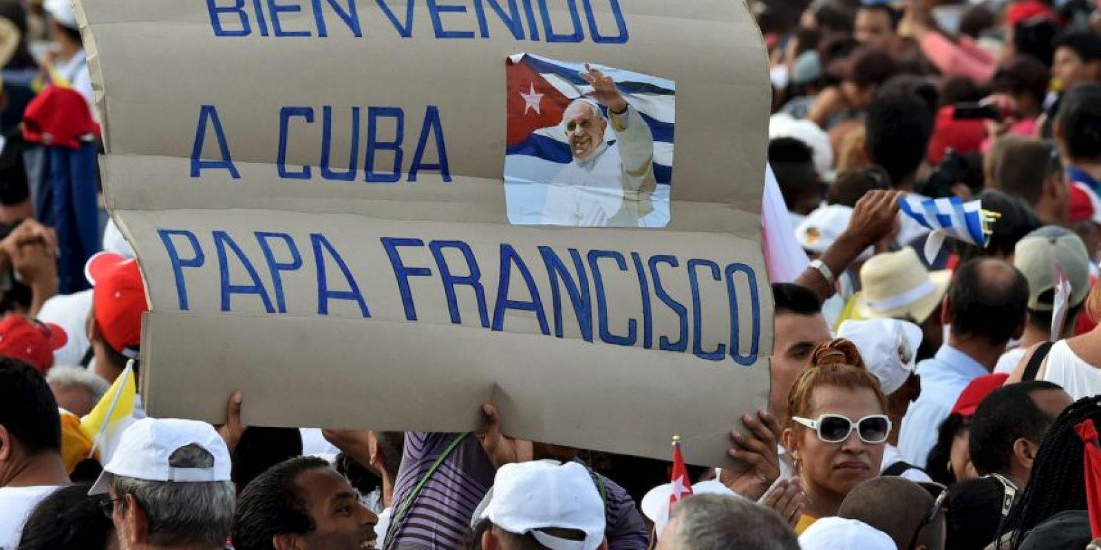 Sus predecesores Juan Pablo II y Benedicto XVI también oficiaron misa en ese lugar. Foto:AFP